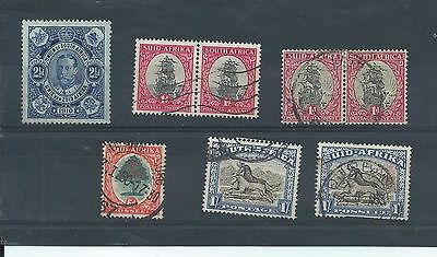 South Africa stamps. Small mainly used lot (Y330)