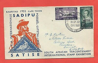 South Africa stamps. 1952 Stamp Exhibition FDC (X397)