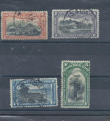 Belgian Congo stamps 1920 air set used. (Z586)