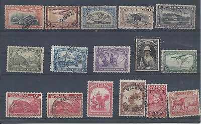 Belgian Congo stamps   Small used lot  (Z585)