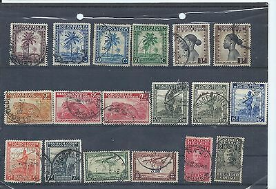 Belgian Congo stamps  Used lot. Mainly some of the 1942 series.  (Z579)