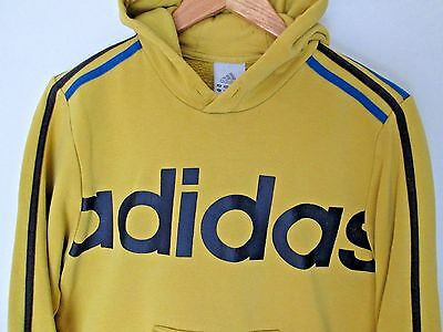 ADIDAS Vintage Hooded Sweatshirt Retro Athletic Sports Hoodie size approx  S - M