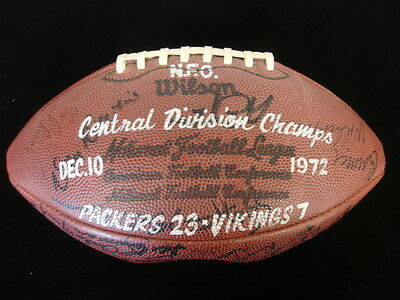 December 10, 1972 GB Packers @ Vikings Game Ball - 54 Packers Autographs, PSA!