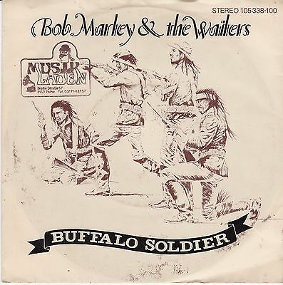 "Bob Marley & The Wailers - Buffalo Soldier German 7"" 45 PS Rares Tuff Gong Label"