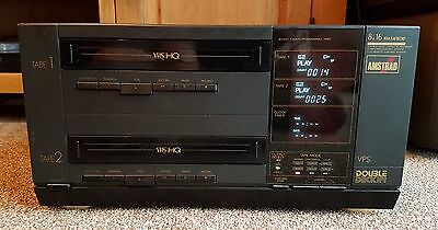 Amstrad Double Decker Twin VHS Player Recorder DD8900 8/16 Hour Recording CCTV?