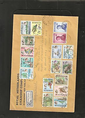 Dominica 1964 Set on Cover to Broadway New York