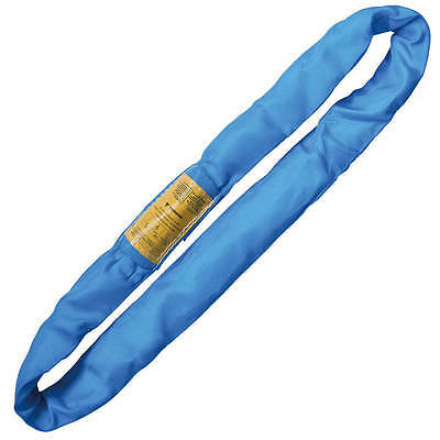 Endless Round Lifting Sling Heavy Duty Polyester Blue 4'