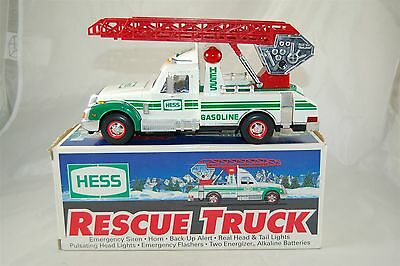 Hess 1994 RESCUE TRUCK with Box and Working Lights and Sirens
