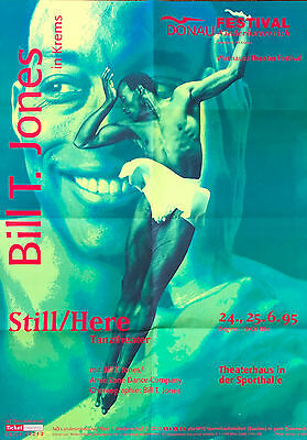 Rare Vintage Dance Bill T. Jones Poster From Still/here 1995 Dual Images
