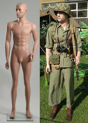 "SMALL SIZE 5'9"" Lifelike Realistic Military Mannequin WW1 WW2 Uniforms"