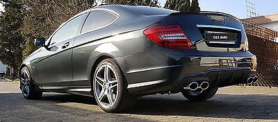 Mercedes Benz C CLASS W204 Sport Exhaust Duplex + DIFFUSER AMG C63 Exhaust Top