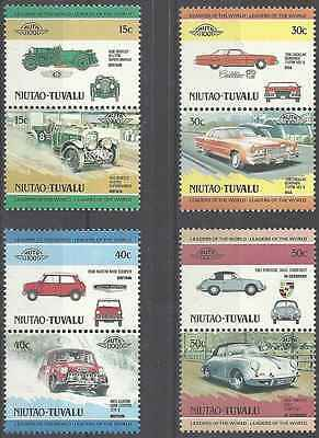 Timbres Voitures Niutao Tuvalu 1 ** lot 5026