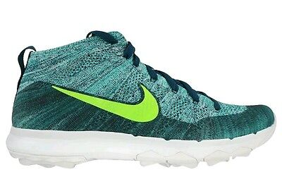 brand new 84658 668c7 Nike Flyknit Chukka Mens Golf Shoes Rio Teal 819009-300