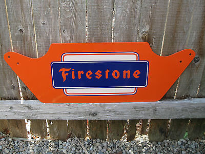 Vintage c. 1960's  FIRESTONE TIRES Metal Sign....Original, NOT A REPRODUCTION