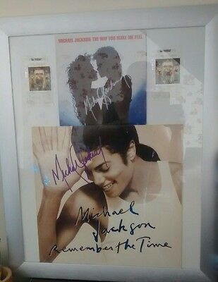 Michael jackson memorabilia,hand signed record covers in quality frame