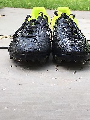 Men's Adidas Aces size 7 black and yellow 15.1 Aces. Football boots shoes