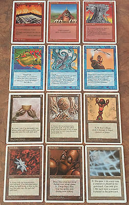 OLD VINTAGE MAGIC CARDS (Lot of 12) All Mixed/No Double **ADULT OWNED** Mint!