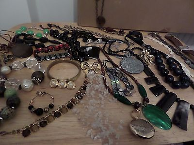 collection of COSTUME JEWELLERY - BRACELETS, EARINGS, BROOCHES, NECKLACES, WATCH