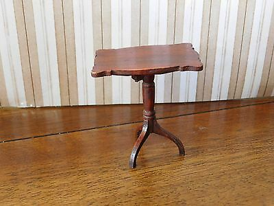Antique TYNIETOY TYNIE TOY Miniature Dollhouse WOODEN COLLAPSIBLE TABLE