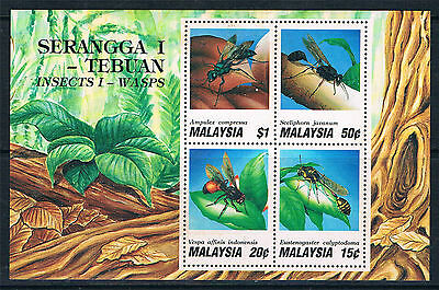 Malaysia 1991 Insects MS SG 461 MNH