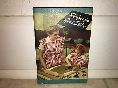 Vintage 1945 Recipes For Good Eating Cook Book Crisco Advertisement