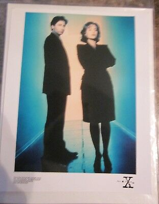 X FILES publicity photo Gillian Anderson David Duchovny authentic rare
