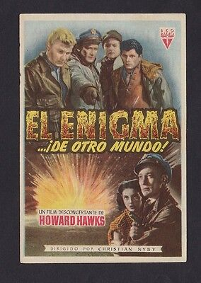 The Thing (1951) Scarce Spanish Movie Herald / Mini Poster - Nm-Mint!