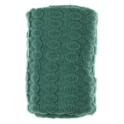 Sky 7295 Bobble Green Cable Knit Decorative Blanket Throw Bedding 50 x 70 BHFO