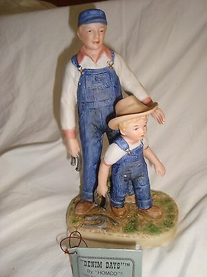 "Home Interior Denim Days ""horseshoes"" Figurine"