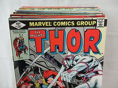Lot Of 29 Mighty THOR Comics #287-319 Marvel 1979-1982 Bronze Age 1st Prints