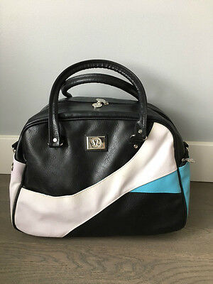 Lululemon Vintage Black White & Blue Duffle Bag