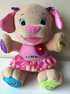 Fisher Price Learn And Laugh Girl Puppy Wearing A Skirt 42 Cms
