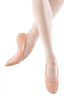Adult Bloch Dansoft Full Leather Sole Ballet Slippers PINK S0205L 6.5 A 6.5A NEW