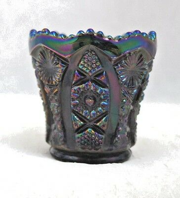 Vintage Imperial Glass Amethyst Carnival Glass Toothpick Holder  6/23*500