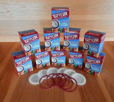 Tattler Reusable Canning Lids, Regular Size, 10 dozen lids and rubber rings