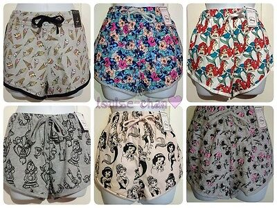 Ladies Official DISNEY Women's Casual Girls Summer Beach Shorts Primark 8 to 18