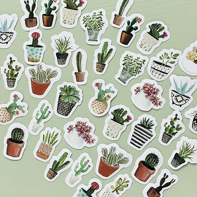 Lots of 45 Plant Stickers Tropical Vinyl Laptop Luggage Decals Dope Sticker Mix