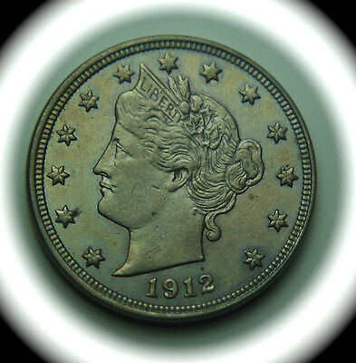 1912 Liberty Head Five Cent Nickel - 5C - No Reserve!