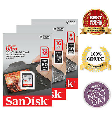 Good Quality SanDisk Ultra 8GB 16GB 32GB Class 10 SDHC SDXC SD Memory Card