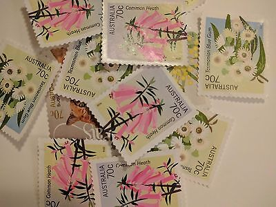 Australian Stamps 100 unfranked 70 cents off paper no gum $70 FV