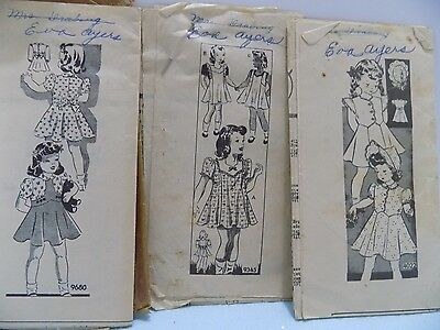Lot of Sewing Patterns  3 GIRLS DRESSES MAIL ORDER PATTERN Size 2-10
