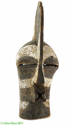 Songye Kifwebe Striated Mask Congo African Art
