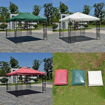 3 Colors Gazebo Top Replacement Canopy Cover  Sun Shade Patio Outdoor 10ft  Tent