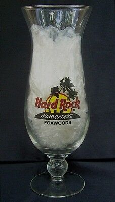 Hard Rock Cafe Foxwoods Hurricane Glass Connecticut Casino Resort Red Ring Logo