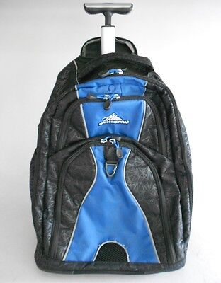 High Sierra Freewheel Wheeled Book Bag Backpack, Royal Blue/Black Crystals