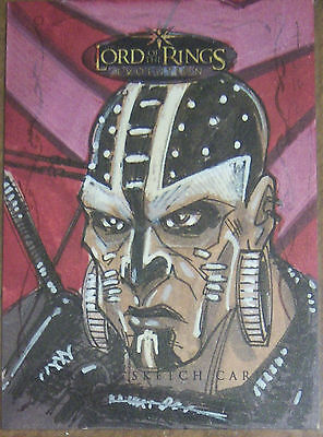 Topps LOTR Lord of the Rings EVOLUTION aftermarket sketch card by TOM HODGES