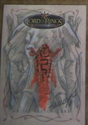 Topps LOTR Lord of the Rings EVOLUTION sketch card by MIKE LILLY