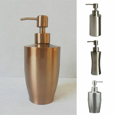 Stainless steel Liquid Pump Soap Lotion Dispenser Hand Sanitizer Bottle Bathroom