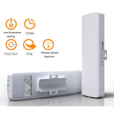 Outdoor High Power Wireless WiFi Bridge Access Point POE CPE AP Router Repeater