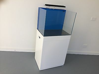 aquarium fish tank complete set with glossy white cabinet